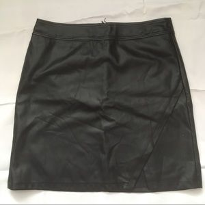 Loft vegan leather black mini skirt